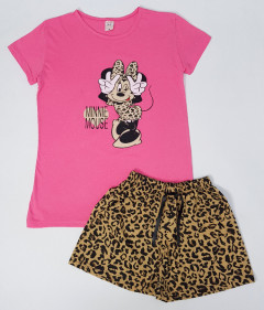 NORMAL Ladies Turkey 2 Pcs Shorty Set (PINK - BROWN) (S - M - L - XL)