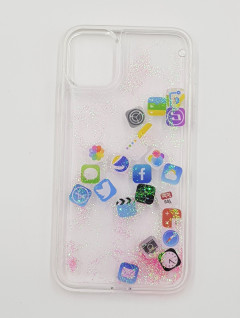 Mobile Cover (WHITE- PINK) (11 6.1)