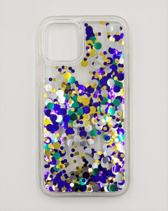 Mobile Cover (BLUE - YELLOW) (IP-11 PRO)