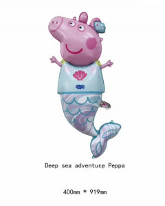 Cartoon Little Pig Pig and friends Birthday Decoration Ballon (BLUE - PINK) (OS)