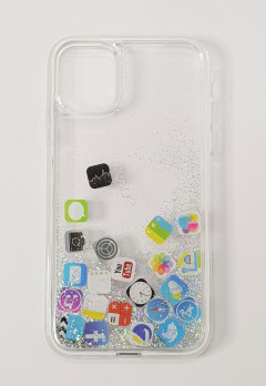 Mobile Cover (WHITE- GRAY) (11 6.1)