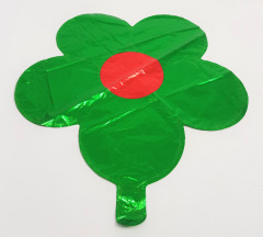 Balloon With Flower Design (GREEN - RED) (Os)
