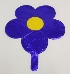 Balloon With Flower Design (BLUE - YELLOW) (Os)