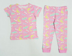 Girls 2 Pcs Pyjama Set (PINK) (2 to 6 Years)