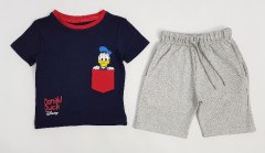 PEBBLES Boys 2 Pcs Shorty Set (NAVY - LIGHT GRAY) (2 to 10 Years)