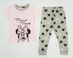 Girls 2 Pcs Pyjama Set (LIGHT PINK - GRAY) (2 to 10 Years)