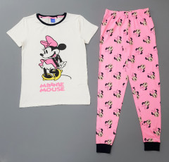 DISNEY Ladies 2Pcs Pyjama Set (WHITE - PINK) (S - M - L - XL)
