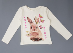 Girls Long Sleeved Shirt ( CREAM ) (92 to 140 CM)