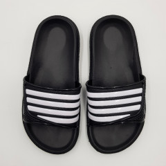 SPORT Girls Slippers (BLACK - WHITE) (30 to 35)