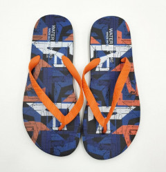 Mens Slippers ( BLUE - ORANGE ) (40 to 45)