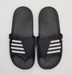 Mens Slippers (BLACK - WHITE) (40 to 45)