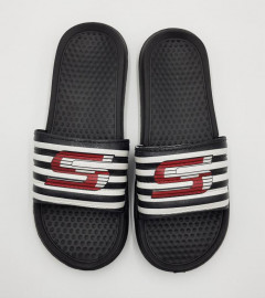 Mens Slippers (BLACK - WHITE) (43)