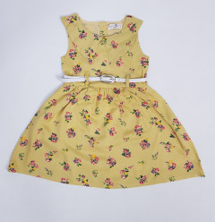 KIDLY BOO  Girls Dress (YELLOW) (2/3 to 7/8 Years)