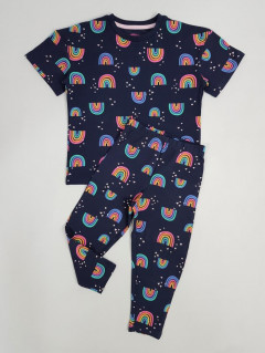 Girls 2 Pcs Pyjama Set (NAVY) (4 to 12 Years)