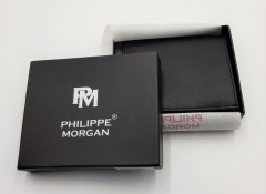 PHILIPPE MORGAN Mens Wallet (BLACK) (OS)