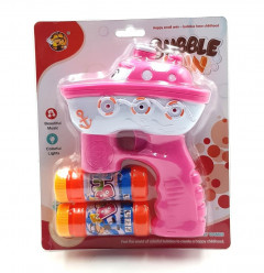 Bubble Gun Shooting with Music and Colorful Lights Toy for Kids