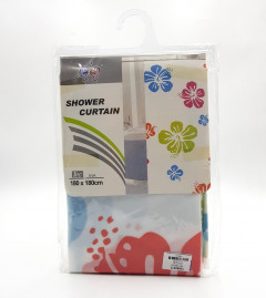 Waterproof Shower Curtain, Long Shower Curtain Made of Polyester, Stylish and Functional Shower Liner for Bathroom 180cm x 180cm