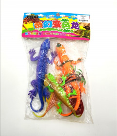 Assorted Plastic PVC Toy Promotional reptiles set Incredible Creatures Bearded Dragon