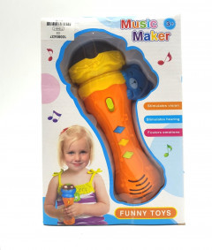 mini musical instrument plastic electronic music microphone toy