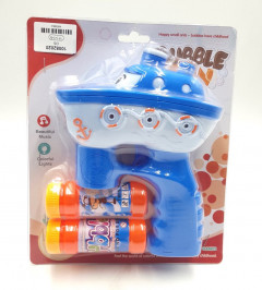 SOAP BUBBLE GUN SHIP WITH LIQUIDS AND SOUND AND LIGHT EFFECT