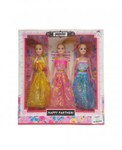 3 Pcs Happy Barbie Dolls