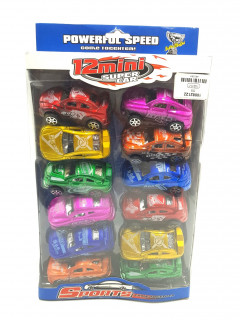 12 Pcs Pack Mini Super Car