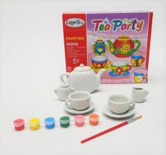 TEA PARTY PORCELAIN PAINTING TEA SET