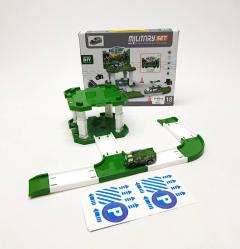 18 Pcs Military Set Truck Parking Lot Plastic