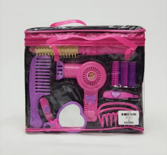 Beauty Toy  Hair Dryer Makeup Salon Tool Plastic Mirror Hairdressing Gift Set Toys For Children