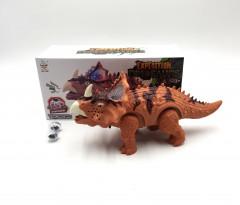 Electronic Dinosaur Toys Walking Triceratops Dinosaur Simulation Doll for Children