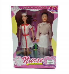 2 Pcs set Barbie Nurse Doll