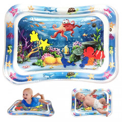 inflatable tummy time baby water play mat is made of high-quality