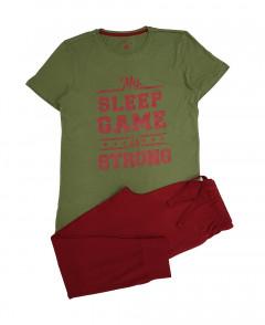 Mens 2 Pcs Pyjama Set