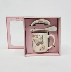 Mug Set With Saucer & Spoon