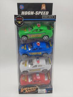 4 PCS SUPER POLICE CAR TOYS
