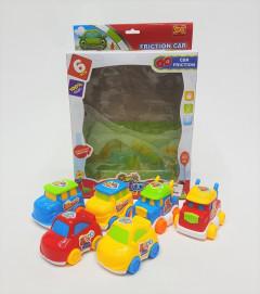 Cartoon Series Friction Car Set of 6