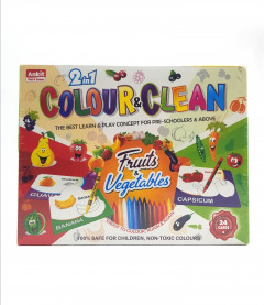Glitter Collection Kids Fruite and vegitable Colour Game re-usable 24 Card vegcard