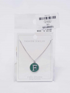 Jewelry set for ladies with the letters F