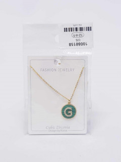 Jewelry set for ladies with the letters G