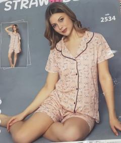 Ladies Turkey 2 Pcs Nightwear Set